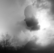 stock-photo-73359879-silhouette-of-girl-emerging-from-summer-clouds